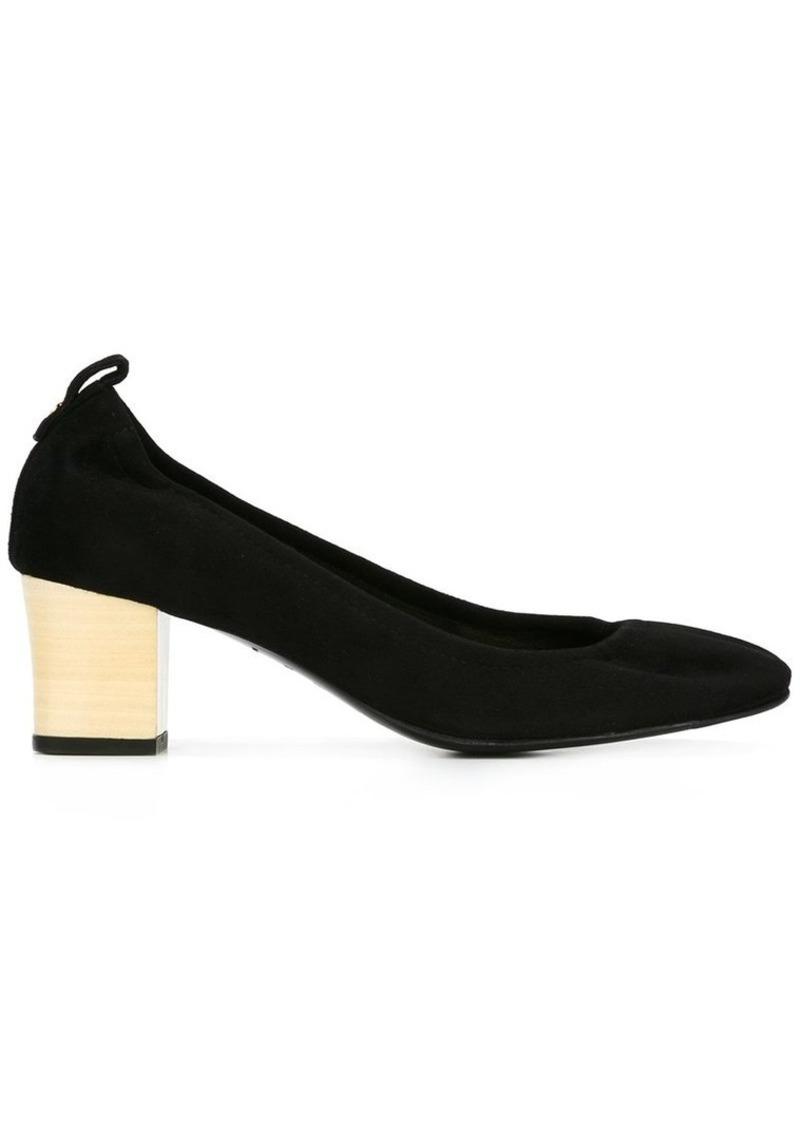 Lanvin contrast block heel pumps