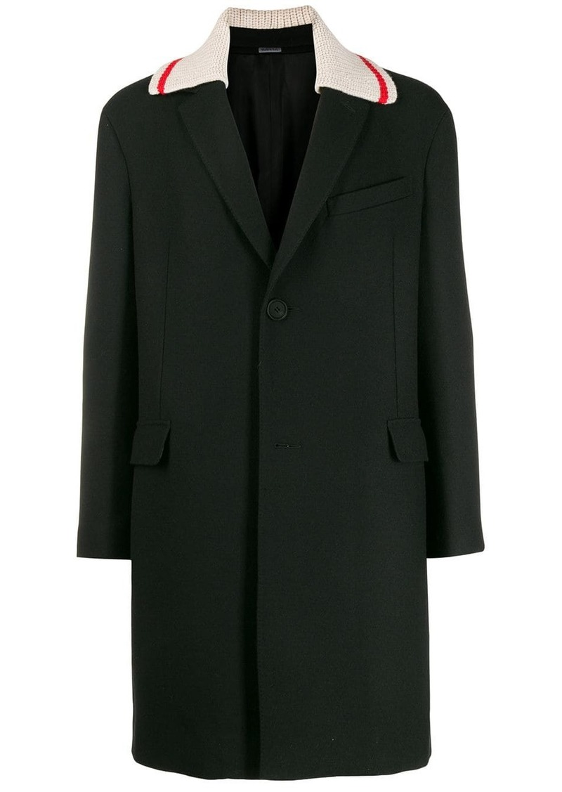 Lanvin contrast-collar coat
