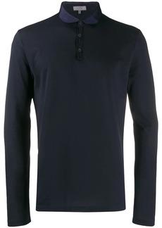 Lanvin contrast collar polo shirt
