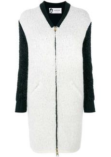 Lanvin contrast sleeve coat