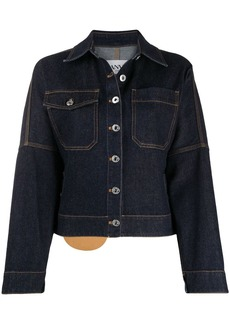 Lanvin contrast-stitch denim jacket