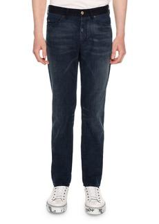 Lanvin Contrast Waistband Skinny 5 Pocket Jeans