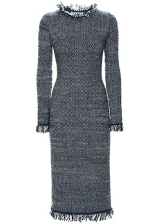 Lanvin Cotton Blend Bouclé Midi Dress