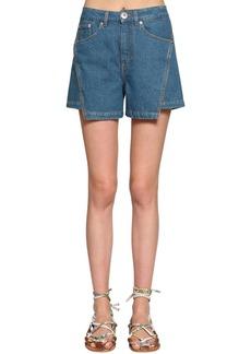 Lanvin Cotton Denim Shorts