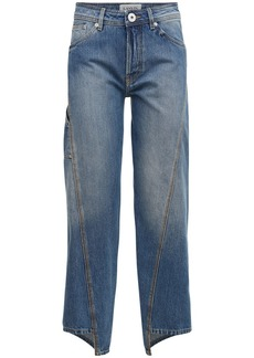 Lanvin Cotton Denim Straight Leg Jeans
