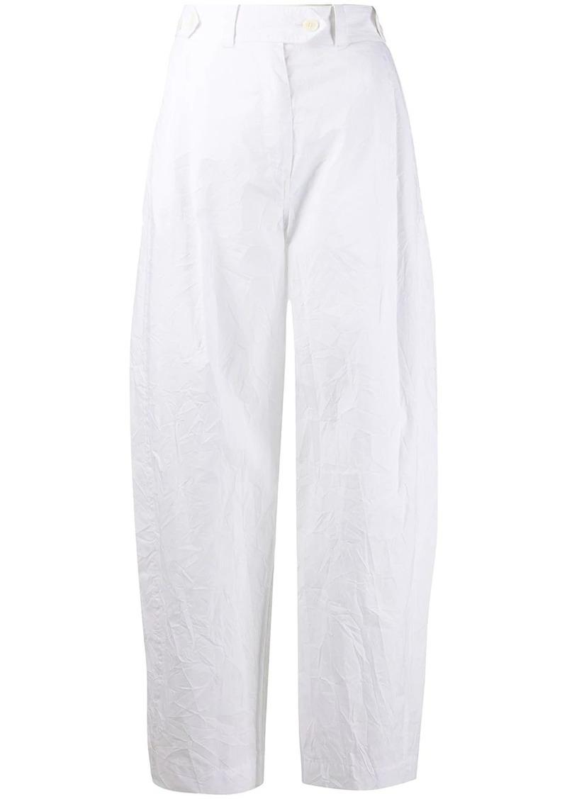 Lanvin crinkle effect suit trousers