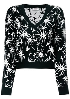 Lanvin cropped V-neck jumper