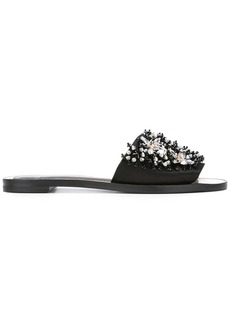 Lanvin crystal strap sandals