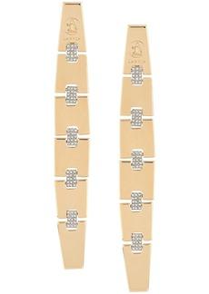 Lanvin diamanté gold chain earrings