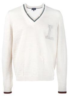 Lanvin distressed detail neckline jumper