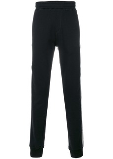Lanvin distressed side stripe joggers
