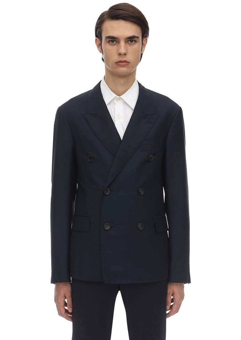 Lanvin Double Breasted Wool & Mohair Jacket