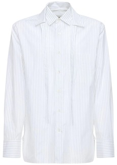 Lanvin Double Collar Striped Cotton Shirt