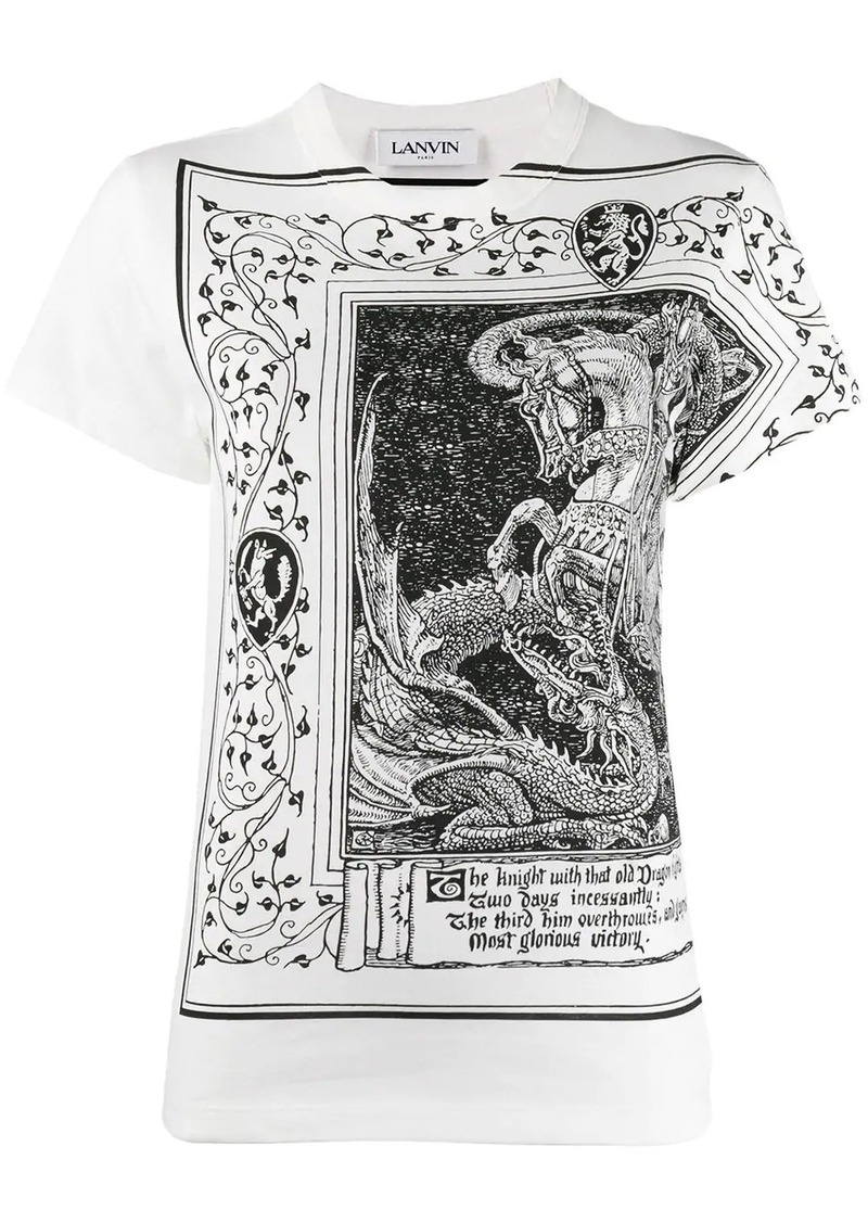 Lanvin dragon and knight print T-shirt