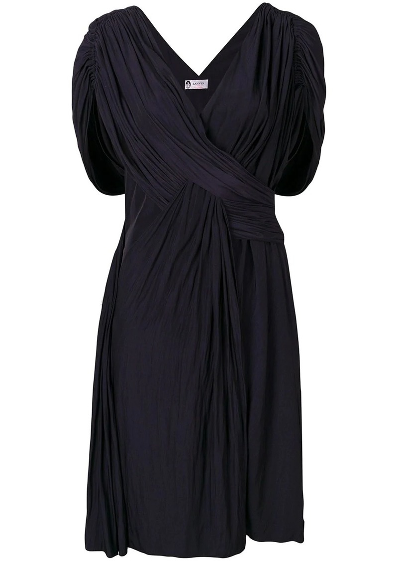 Lanvin draped cocktail dress