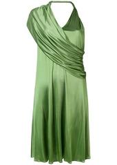 Lanvin draped V-neck dress