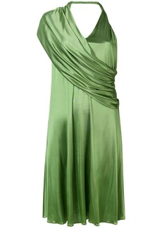 Lanvin draped V-neck dress