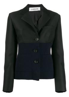 Lanvin dual-fabric blazer