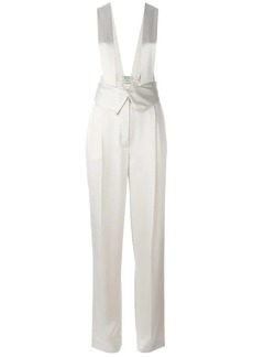 Lanvin dungaree effect trousers