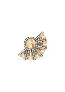 Lanvin Embellished Brass Mono Earring