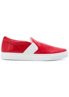 Lanvin embossed slip-on sneakers