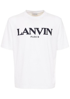 Lanvin Embroidered Logo Cotton Regular T-shirt