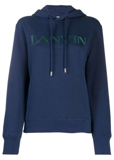Lanvin embroidered logo hoodie