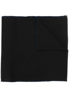 Lanvin embroidered logo scarf