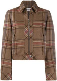 Lanvin fitted tartan jacket