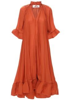 Lanvin Flared Georgette Midi Dress