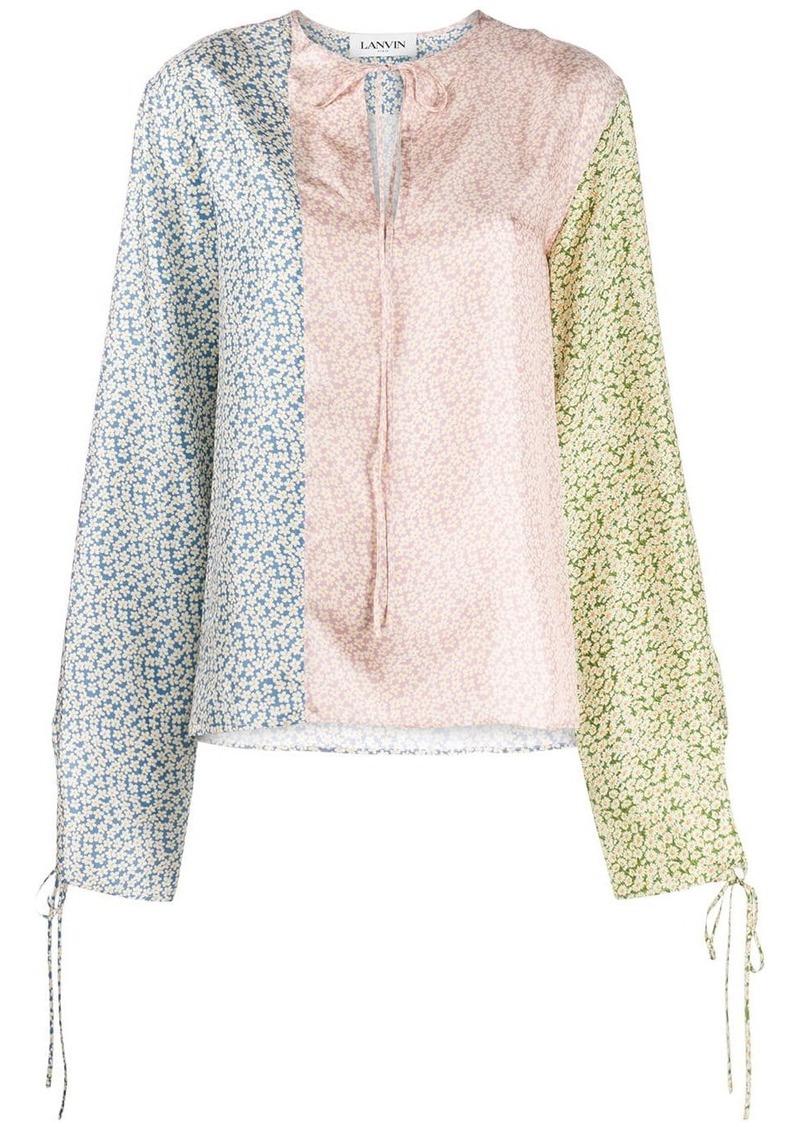 Lanvin contrast floral print blouse