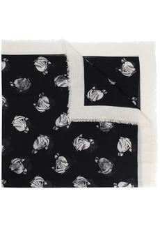 Lanvin floral-print fringe-hem scarf