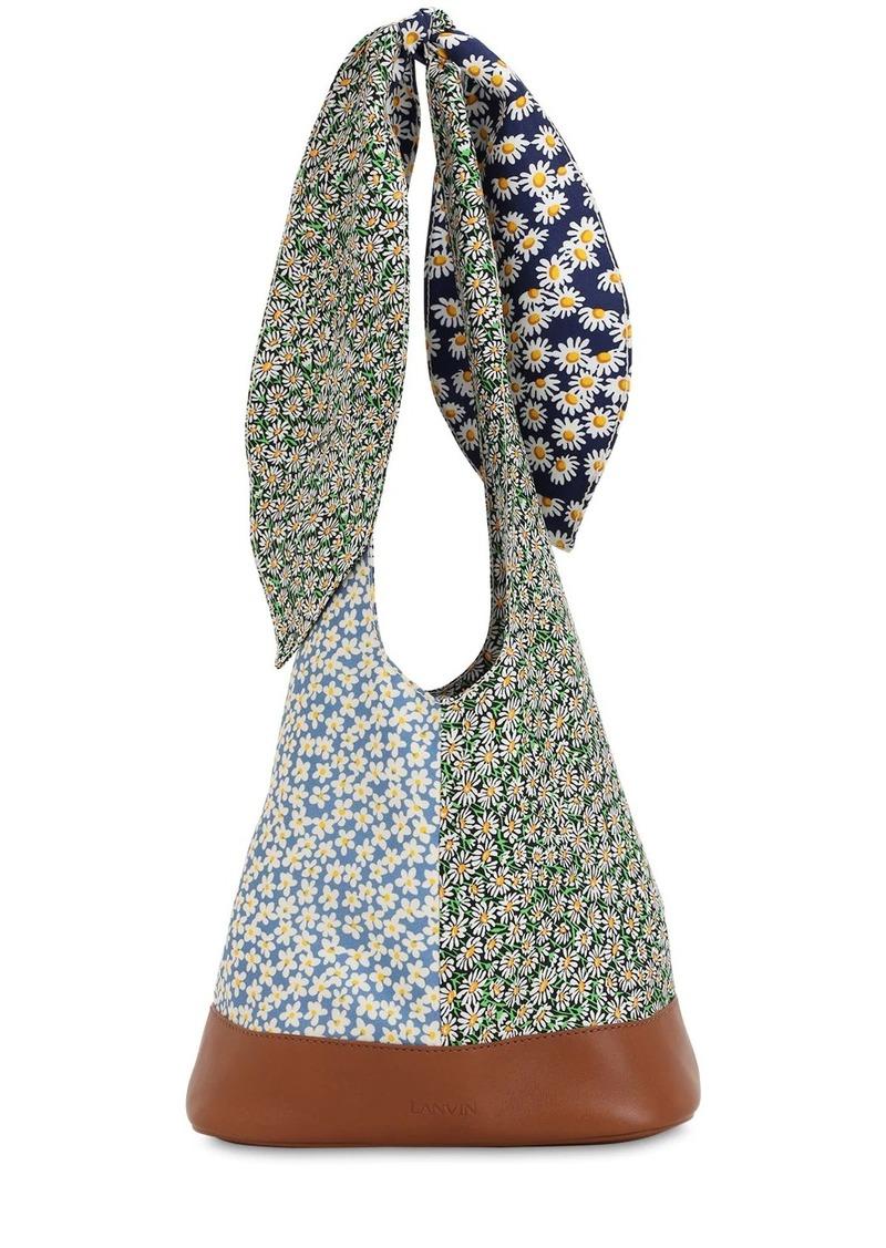 Lanvin Floral Print Silk Bucket Bag