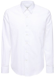 Lanvin French Collar Fitted Cotton Shirt