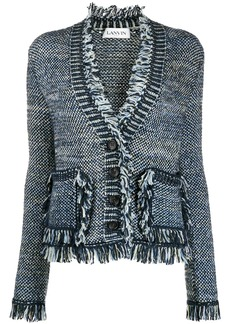 Lanvin fringed knitted cardigan