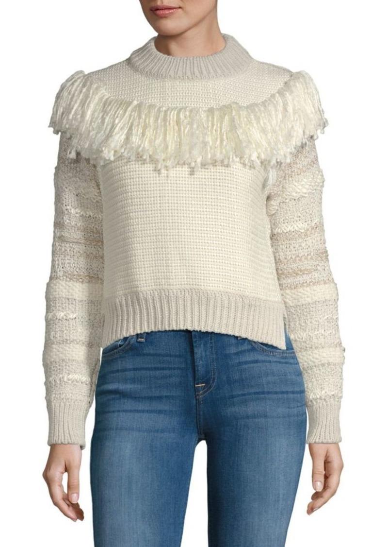 Lanvin Fringed Wool-Blend Sweater