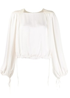 Lanvin gathered cropped blouse
