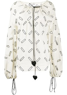 Lanvin geometric cut out blouse