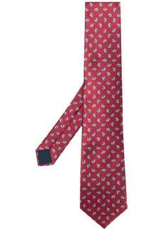 Lanvin Mother and Child printed tie
