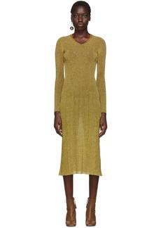 Lanvin Gold Lurex Knitted Dress