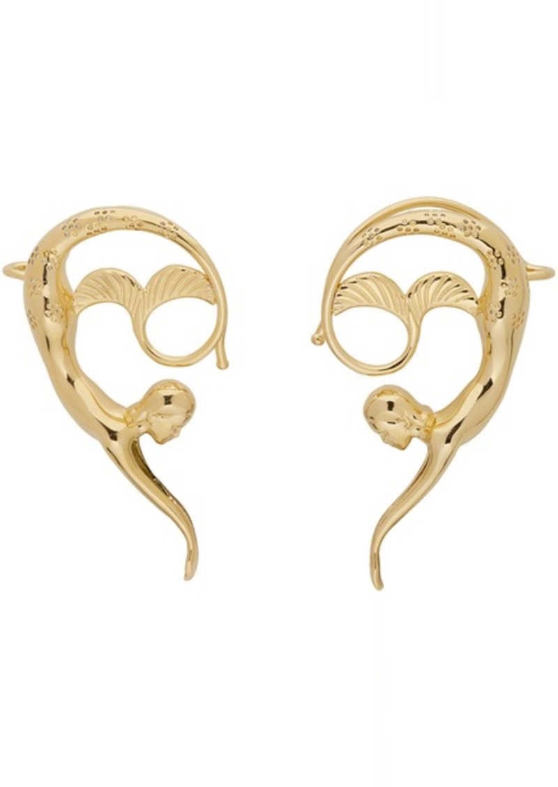 Lanvin Gold Mermaid Earrings