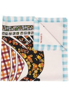 Lanvin graphic print scarf