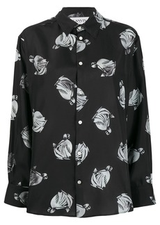 Lanvin graphic print shirt