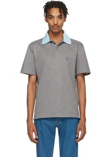 Lanvin Grey Grosgrain Polo