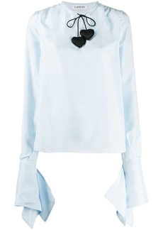 Lanvin heart-detail blouse