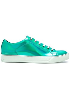 Lanvin high-shine lace-up sneakers