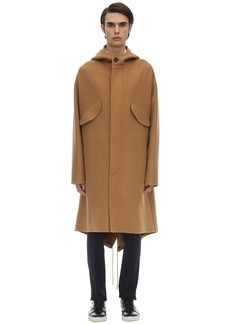 Lanvin Hooded Wool & Cashmere Coat