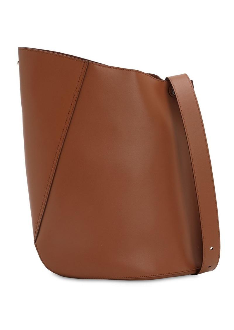 Lanvin Hook Leather Bucket Bag