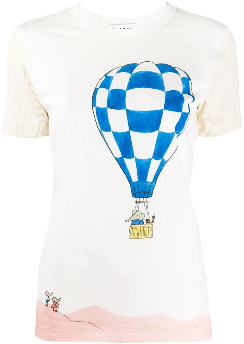 Lanvin hot air balloon print T-shirt