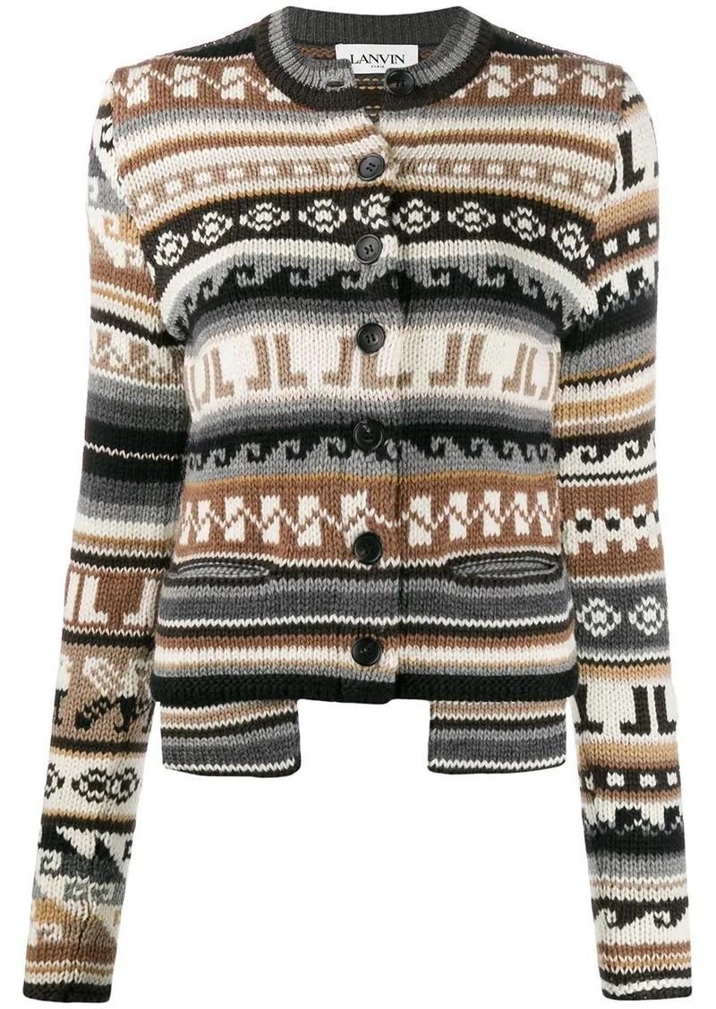Lanvin intarsia-knit cardigan